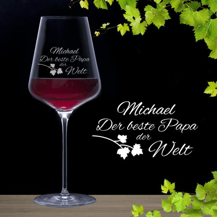 Weinglas mit Gravur - Bester Papa