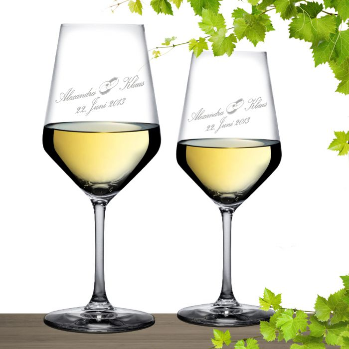 Verres à vin blanc pour le mariage