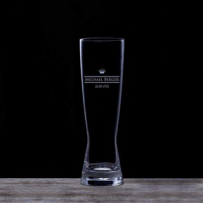 Weizenglas mit Gravur - Royal