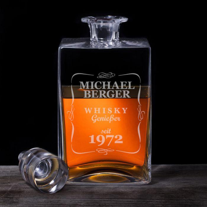 Whisky Karaffe Deluxe mit Gravur - Klassisch