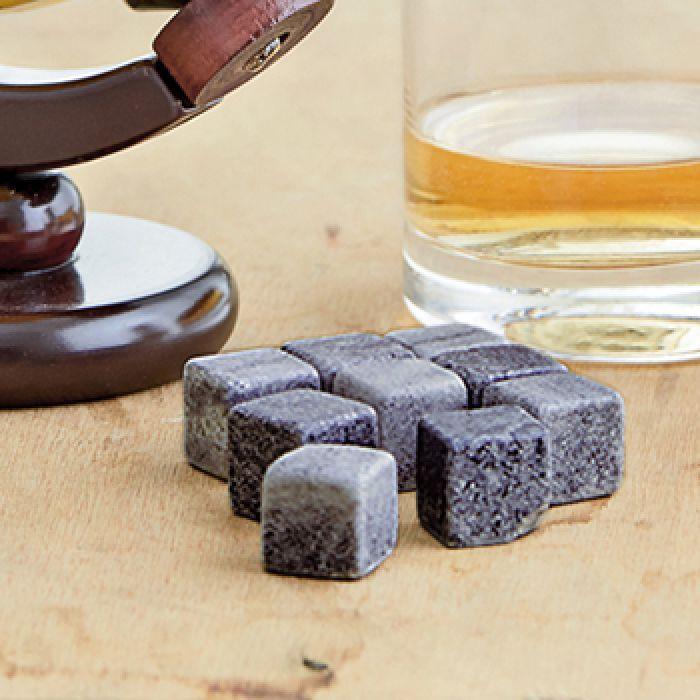 Pierres à whisky dans boîte en bois avec gravure - meilleur papa