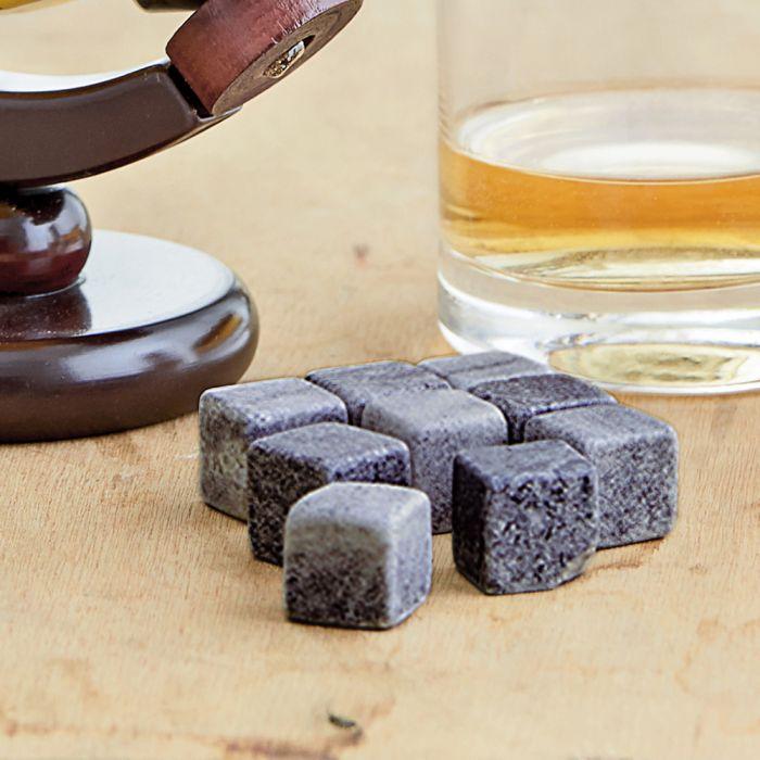 Whisky Steine in Holzkiste mit Gravur - College Bester Opa