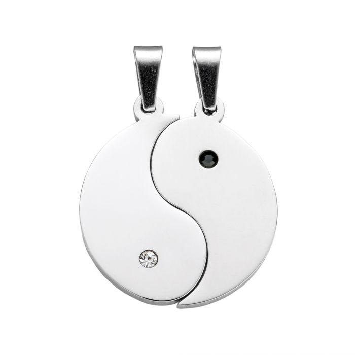Yin und Yang Anhängerset für Paare - mit Gravur