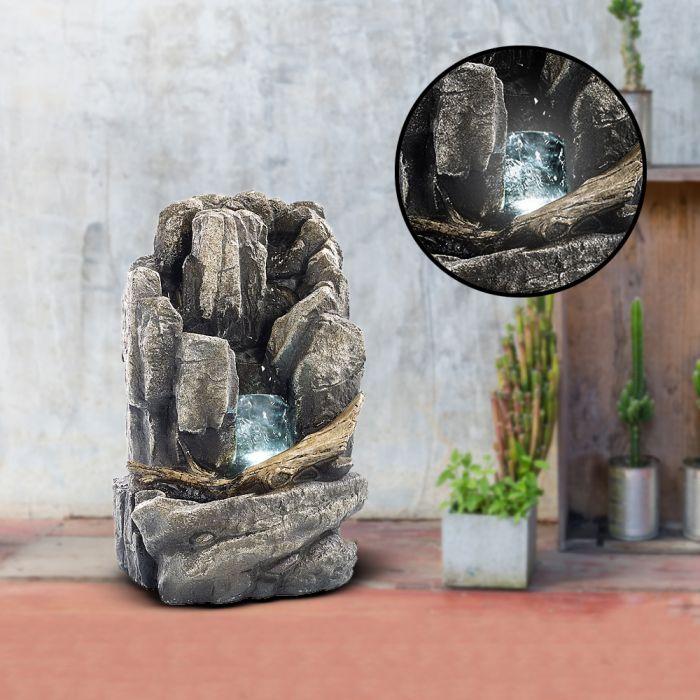 Nützlichwellness - Zimmerbrunnen Alpenfels mit LED - Onlineshop Monsterzeug