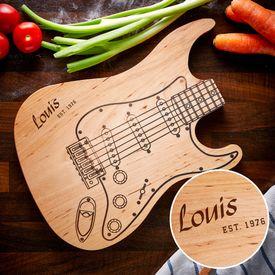 Planche  dcouper - Guitare lectrique