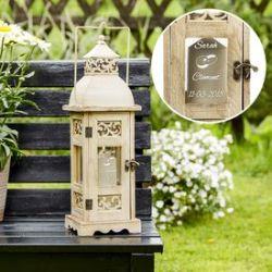 Lanterne de mariage romantique - personnalisé