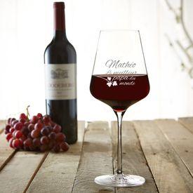 Verre  vin avec gravure - Meilleur Papa