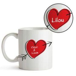 Cœur d'Amour – tasse personnalisée