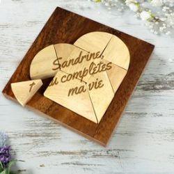 Mini puzzle en bois – cœur