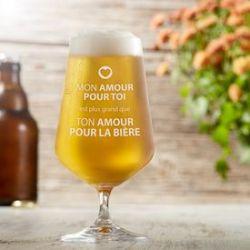 Verre à bière - Amour