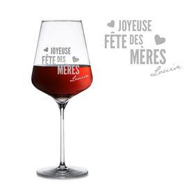 Verre  vin personnalis pour la fte des mres