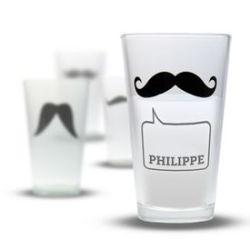Verres moustache – Set de 4