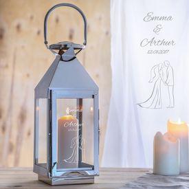 Laterne zur Hochzeit - Silhouette