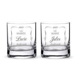 Verres à whisky pour le mariage - Couple de mariés