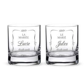 Whiskyglser zur Hochzeit - Brautpaar