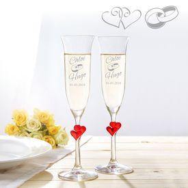 Fltes  champagne curs pour le mariage