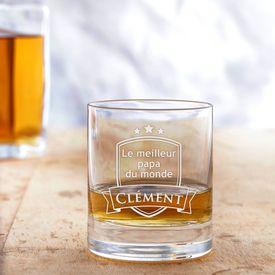 Verre à whisky avec gravure - Meilleur papa