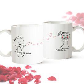 Set de 2 mugs personnaliss  Couple damoureux