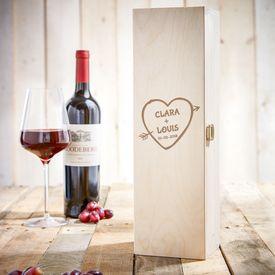 Caisse de vin personnalise  flche dAmor