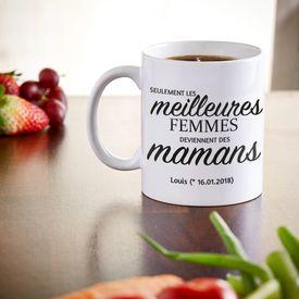 Tasse personnalise - Promotion au grade de maman