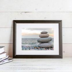 Tableau personnalisé – famille bonhomme en pierre