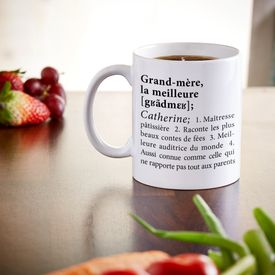 Tasse personnalise - Dfinition meilleure grand-mre