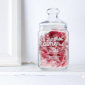 Bonbonnière avec gravure – Message d'amour