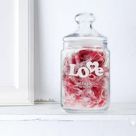 Bonbonnire avec gravure  Love