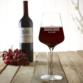 Verre  vin avec gravure  Royal