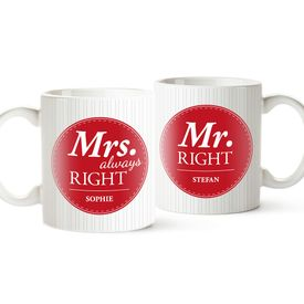 Personalisiertes Tassen Set - Mr and Mrs Right