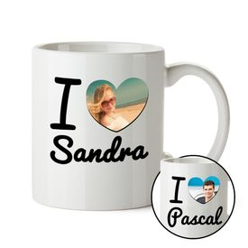 Tasse photo personnalise  I Love