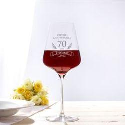Verre à vin pour le 70e anniversaire