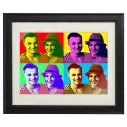 Tableau personnalisé pour couples – Pop Art