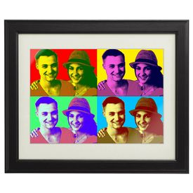 Tableau personnalis pour couples  Pop Art