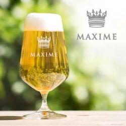 Verre à bière tulipe - Couronne de roi