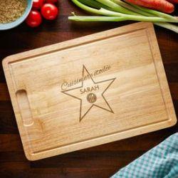 Planche à découpée - cuisinière étoilée