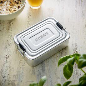 Gravierte Lunchbox - quadratisch