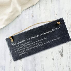 Schiefertafel mit Gravur - Definition Weltbeste Oma