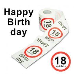 Toilettenpapier zum Geburtstag