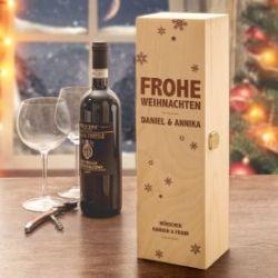Personalisierte Weinkiste - Weihnachten