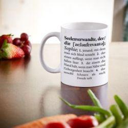 Personalisierte Tasse - Definition Seelenverwandte