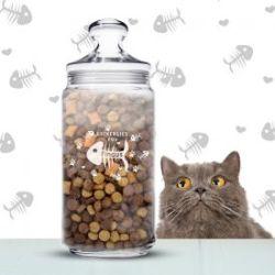 Leckerlies für Katzen - personalisiertes Vorratsglas