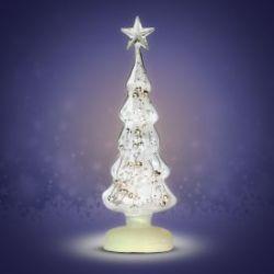 Leuchtender Weihnachtsbaum aus Glas