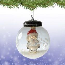 LED Weihnachtskugel - Weihnachtsmann