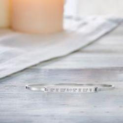 Bracelet avec gravure - Coordonnées GPS avec cœur