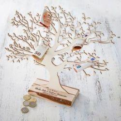 Baum mit Sockel graviert - Kommunion (groß)