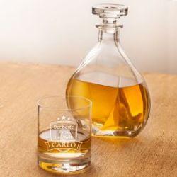 Whisky Set mit Lismore Karaffe und Glas - Bester Papa