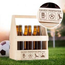 Flaschenträger mit Gravur - Perfekter Spieltag