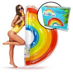 Aufblasbare Luftmatratze - Regenbogen