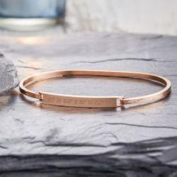Bracelet bronze avec gravure - Coordonnées géographiques